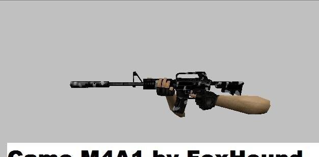 CS Addons: Camo M4A1 fuskem kid pics