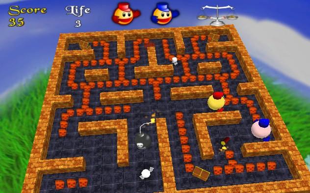 Screenshots for 3d pacman 1 5