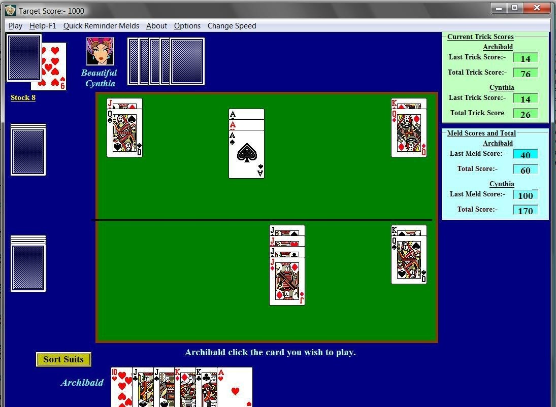 3 handed double deck pinochle rules