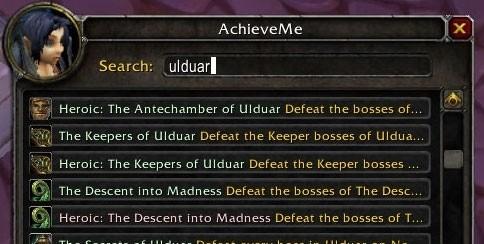 WoW Addons: AchieveMe