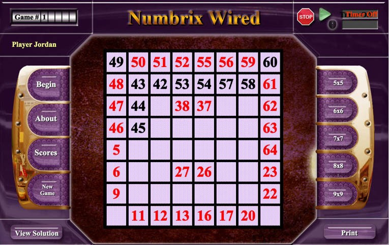Numbrix puzzle app for android