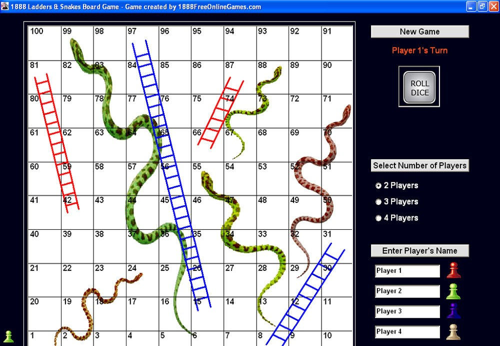 1888 Ladders & Snake