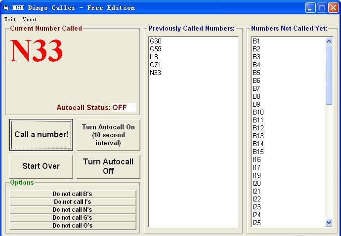 call bingo numbers online