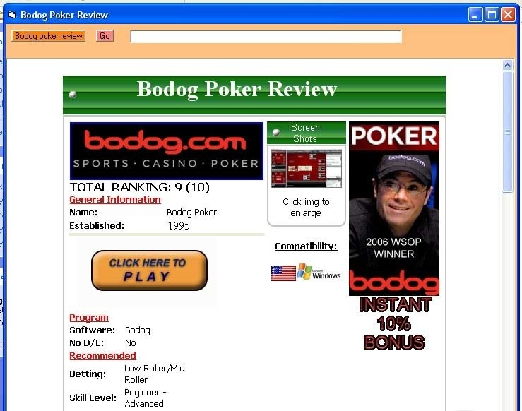 Review poker