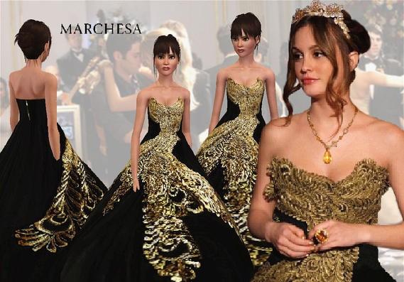 sims3 -Marchesa gown
