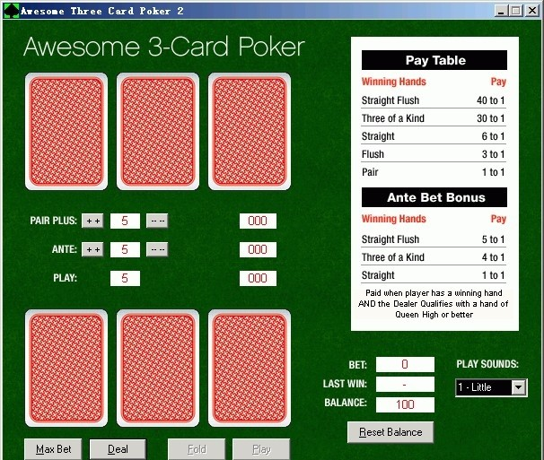 Awesome 3-Card Poker