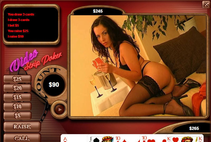 Likes cock! full poker strip version video HOT GIRL...when