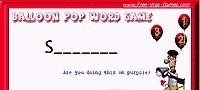 Balloon Pop Word Game