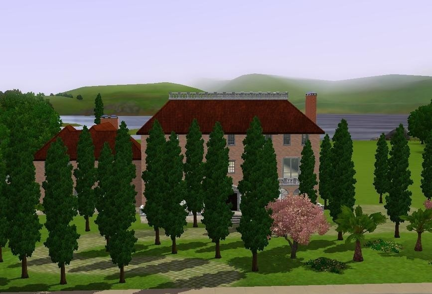 Sims3 - Italian Mansion italian fem joy