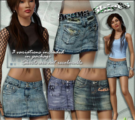 sims3 -S2S Jeans Skirts