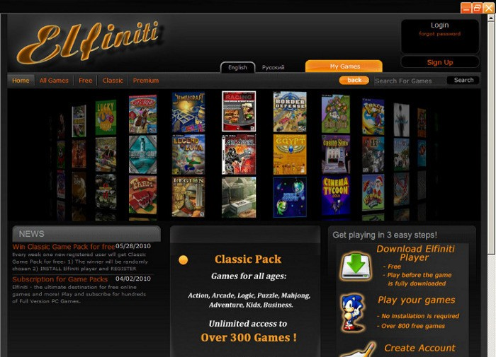 Elfiniti Games Player