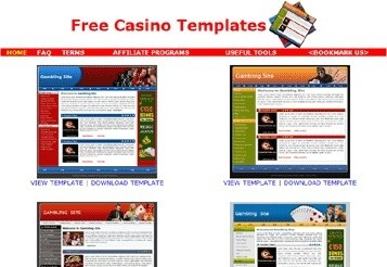 Free Casino Templates