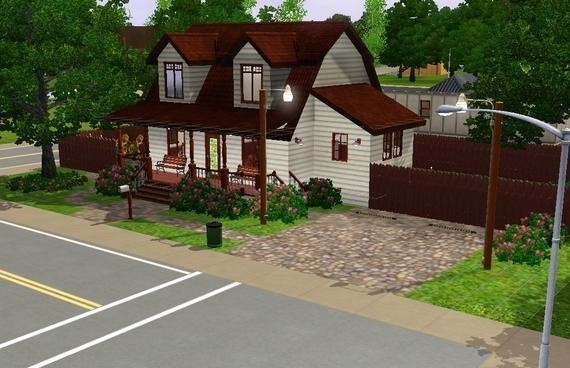 Sims3 - Red Roof Cottage