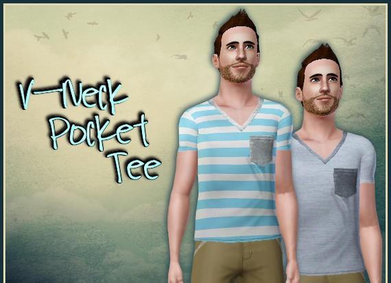 Sims3 - V-Neck Pocket Tee