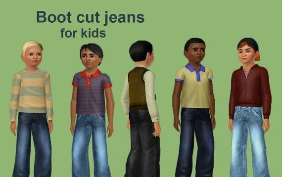 Sims3 - boot cut jeans boy