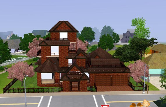 Sims3 - Brownstone Palace