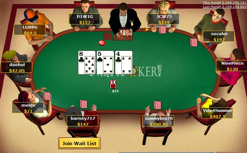 party poker game