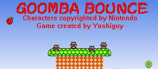 Mario Game: Goomba Bounce