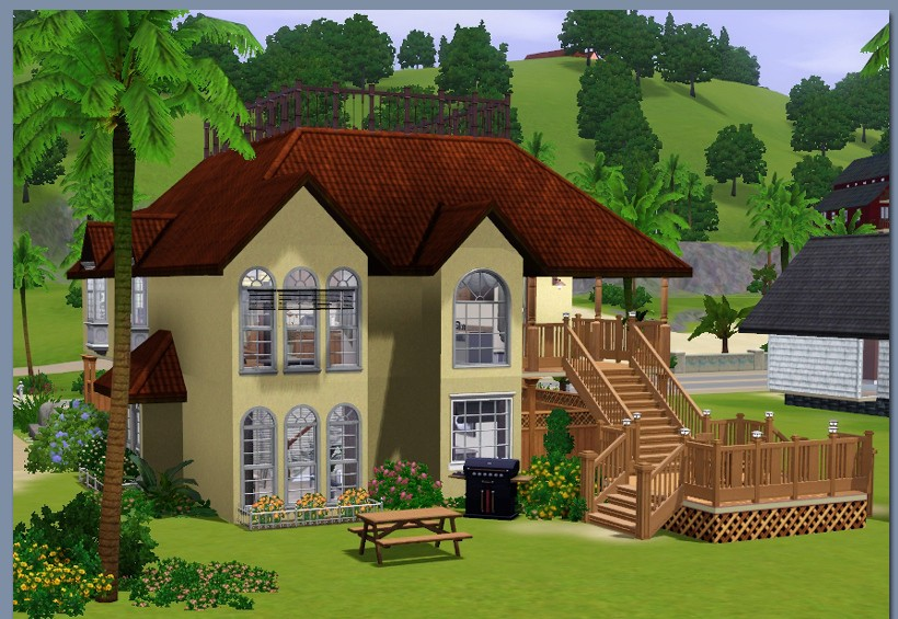 Sims3 sunset beach house lisisoft for Classic house sims 3