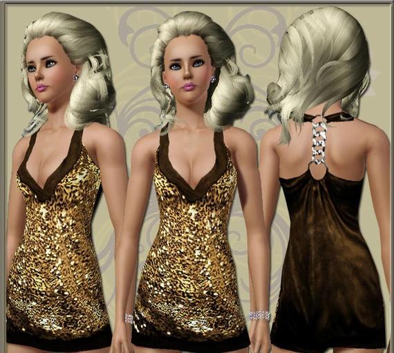 Sims3 - Elite Shiney Dress
