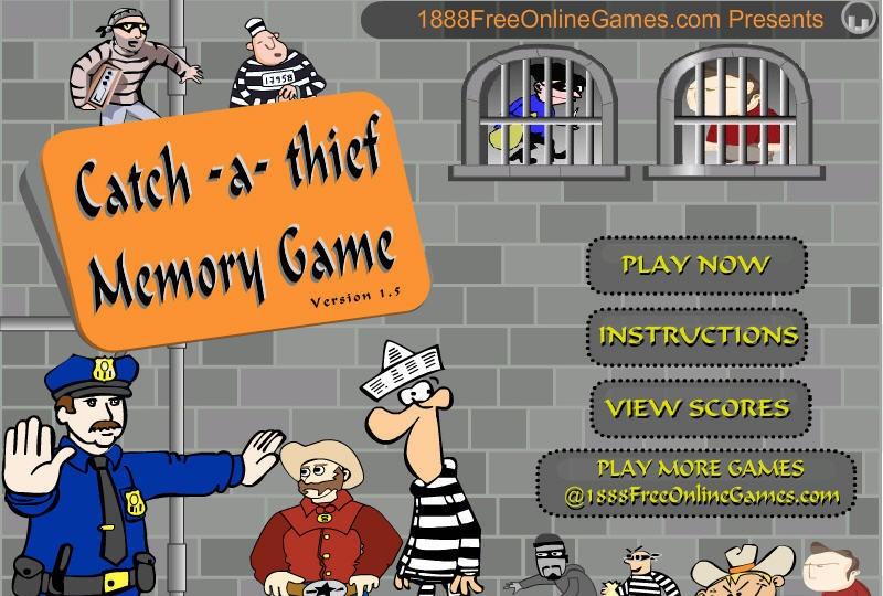 Catch A Thief Memory Game