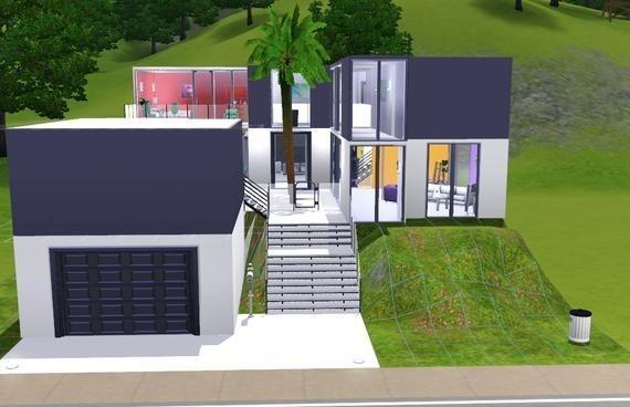 Sims3 - Modern white house #2