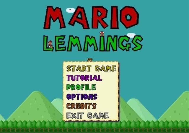 Mario Game: Mario Lemmings