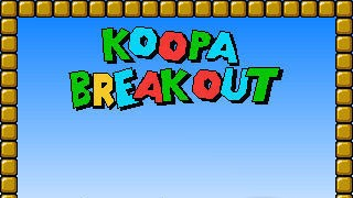 Mario Game: Koopa Breakout