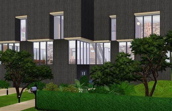 Sims3 - Brutalist Residence