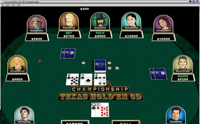 how to change opponent in hoyle texas hold em