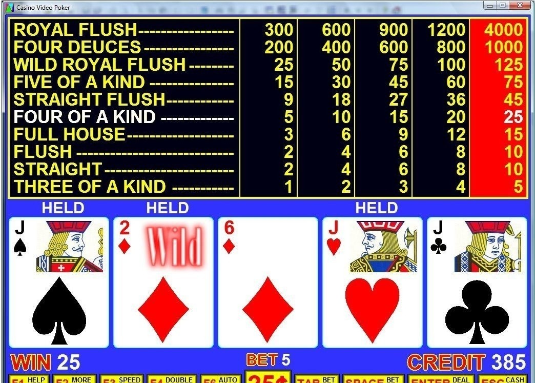 learn to play deuces wild video poker