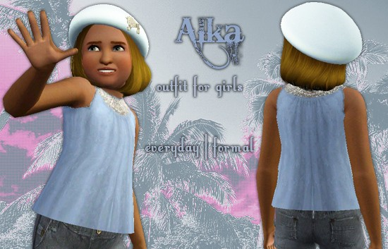 Sims3 - Alka Outfit for Girls