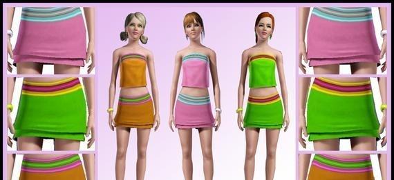 Sims3 - FluffyTube MiniSkirt