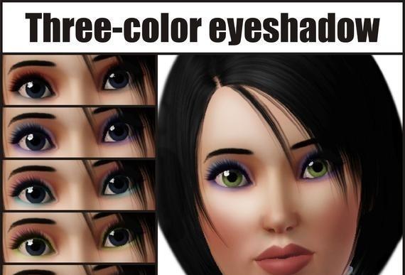 sims3 -Three color eyeshadow