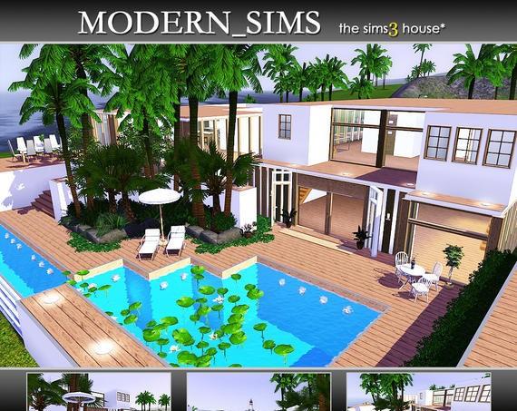 Sims3 - 4SV (a huge modern villa)