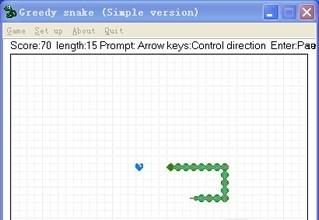 Greedy snake (Simple version)