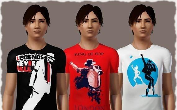 Sims3 - Tshirt_Michael Jackson michael jackson et