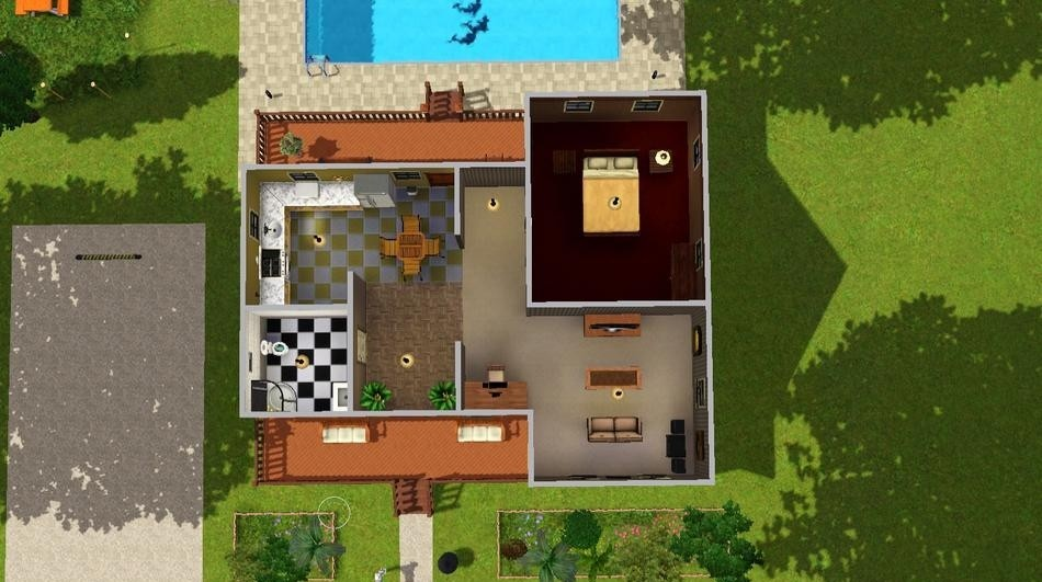 Sims3 Luxorious Starter Home Lisisoft