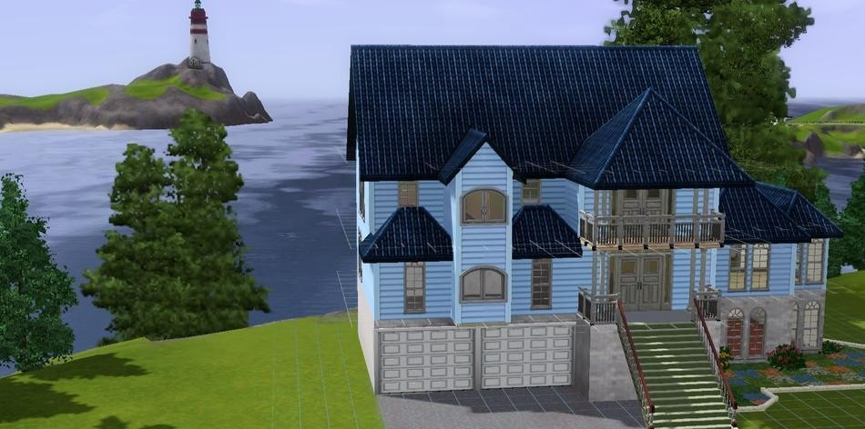 Sims3 - Lakeside Victorian Home