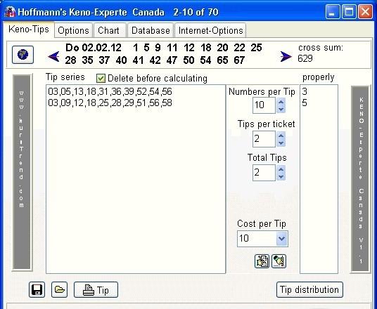 Hoffmanns Keno-Experte Canada