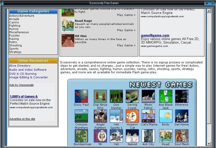 Excessively Free Online Games