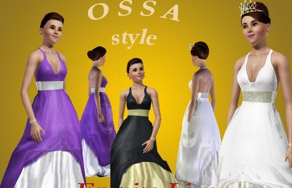 Sims3 - OSSA - Dress F032 Empire Line