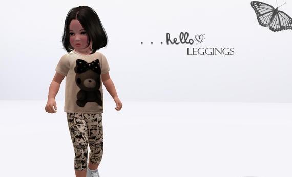 Sims3 - Leggings For Toddler Girls