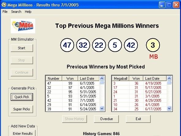 Mega Millions Lottery Powerpack