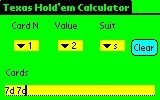 Poker Odds Calculator for Palm OS