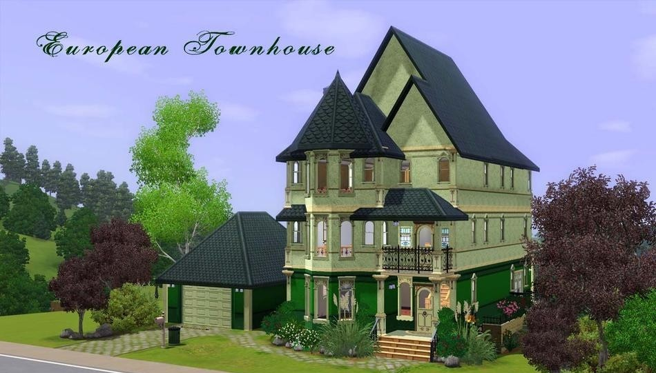 Sims3 european townhouse revised lisisoft for European townhouse