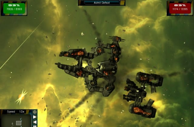 Also see like gratuitous space battles trailer