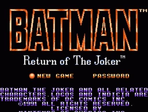 Batman: Return of the Joker for NES