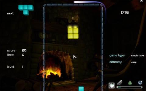 AG:: Fireplace - The Animated 3D Tetris