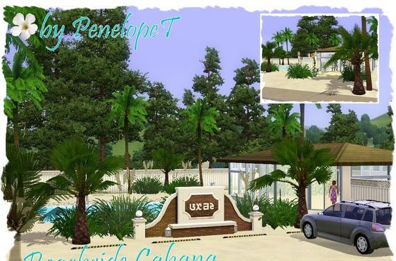 sims3 -Beachside Cabana Community Lot